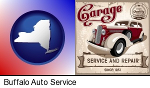 Buffalo, New York - an auto service and repairs garage sign