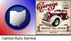 Canton, Ohio - an auto service and repairs garage sign