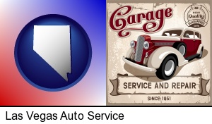 Las Vegas, Nevada - an auto service and repairs garage sign