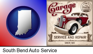 South Bend, Indiana - an auto service and repairs garage sign